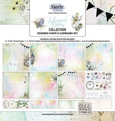 3 Quarter Designs 12 x 12 Collections -Whimsical Notions