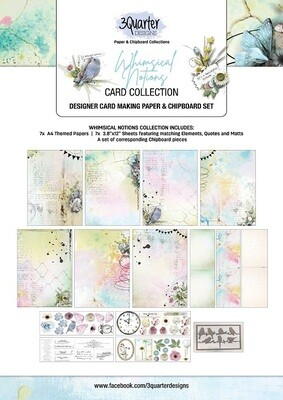 3 Quarter Designs - Card Making Kit - Whimsical Notions Collection