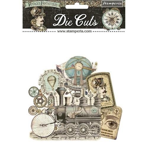 Stamperia - Voyage Fantastiques -  Die Cuts - 37 pcs