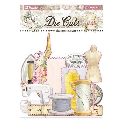 Stamperia - Romantic Threads -  Die Cuts - 37 pcs