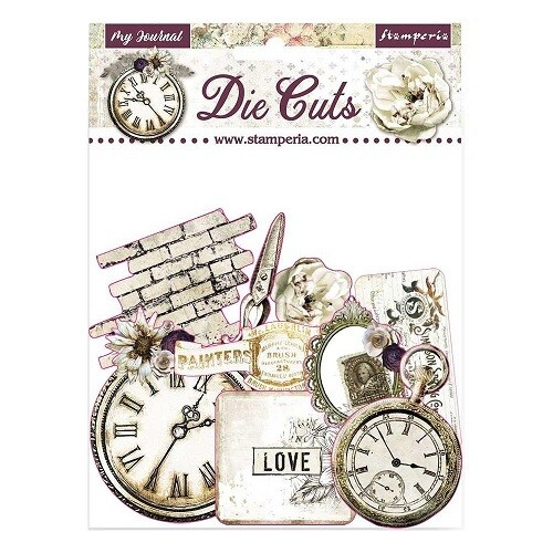 Stamperia - Romantic Collection - My Journal -  Die Cuts - 37 pcs