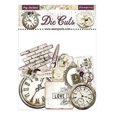 Stamperia - Romantic My Journal-  Die Cuts - 37 pcs