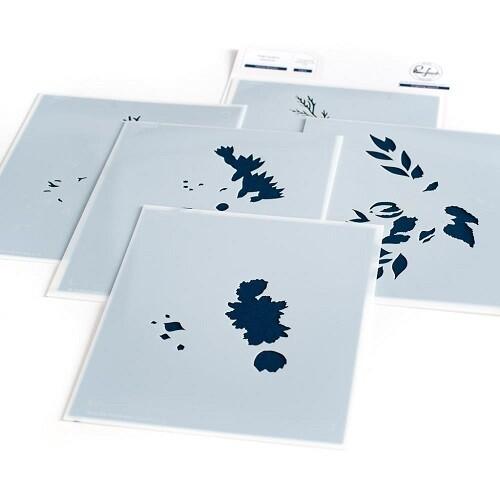 PinkFresh Studios - Infinite Blooms - Layered Stencils - 106021 - 5 Pieces