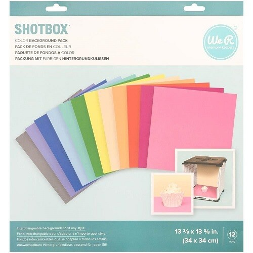 We R Memory Keepers - Multicoloured - Shotbox Backgrounds 12 Pcs