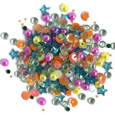Buttons Galore - Sparkletz - Rainbow - 10gm