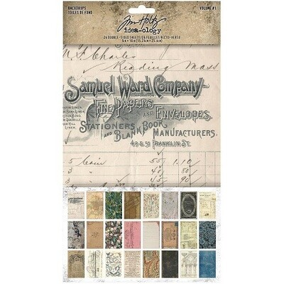 Tim Holtz - Idea-ology -Backdrops - Volume #1
