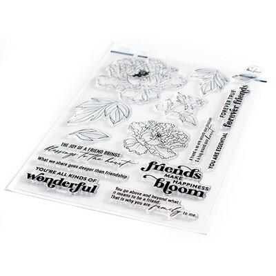 "PinkFresh Studios - Clear Stamp - Friendship Blooms - 6"" x 8"" - 105521"