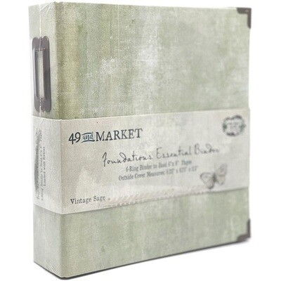 """49 & Market - Essential Binder - Vintage Sage - 6"""" x 8"""""""