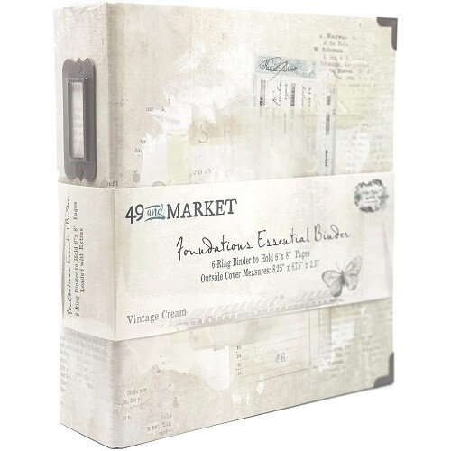 "49 & Market - Essential Binder - Vintage Cream - 6"" x 8"""
