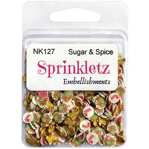 Buttons Galore - Sparkletz - Sugar and Spice - 10gm