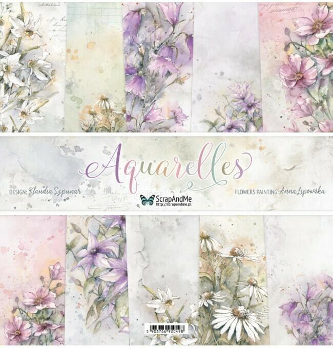 ScrapandMe - Aquarelles  - 12 x 12 Paper Collection