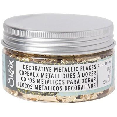 Sizzix - Deco Metallic Flakes - Gold 0.8gm