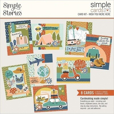 Simple Stories - Card Kit - Wish You Were Here - 8 Cards
