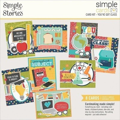 Simple Stories - Card Kit - You've Got Class - 8 Cards