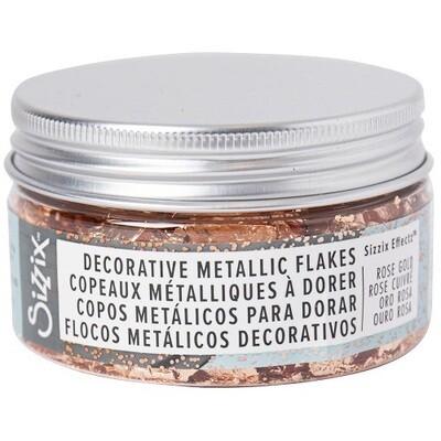 Sizzix - Deco Metallic Flakes - Rose Gold 0.8gm