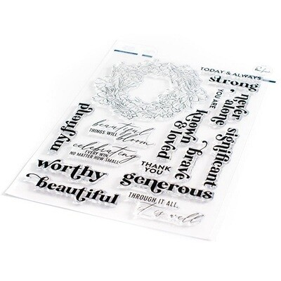 """PinkFresh Studios - Clear Stamp - Known & Loved 6"""" x 8"""" - 105221"""