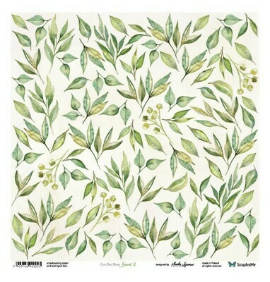 ScrapandMe - Leaves 2 - Fussy Cutting 12 x 12 Sheet