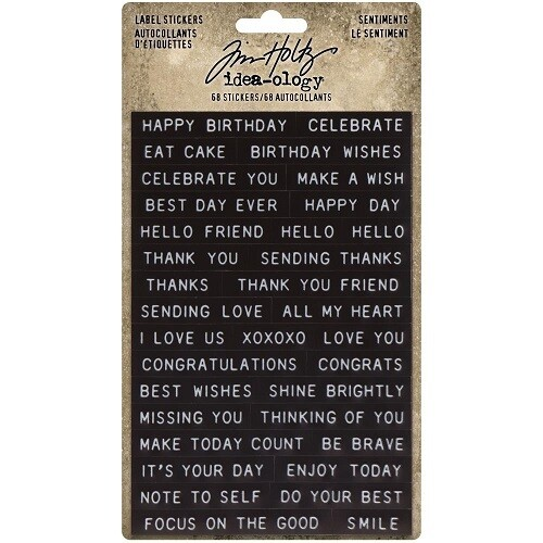 Tim Holtz - Idea-ology - Label Stickers - Sentiments