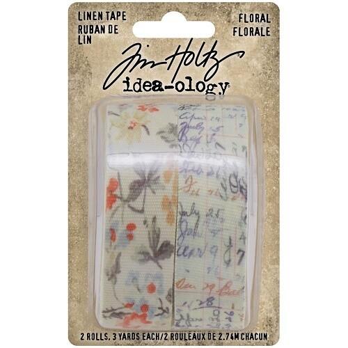 Tim Holtz - Idea-ology - Linen Tape -Floral - 2 rolls