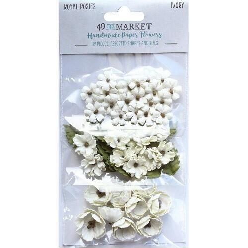 49 & Market - Royal Posies Paper Flowers - Ivory