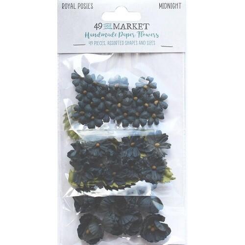 49 & Market - Royal Posies Paper Flowers - Midnight