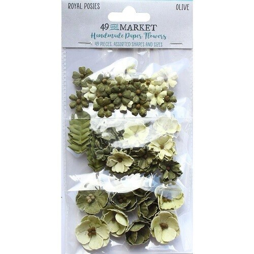 49 & Market - Royal Posies Paper Flowers - Olive