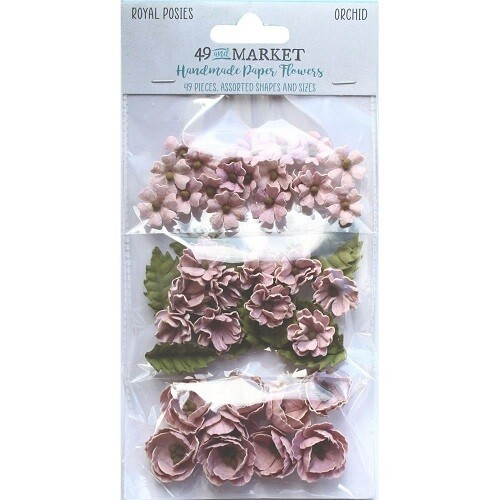 49 & Market - Royal Posies - Paper Flowers - Orchid