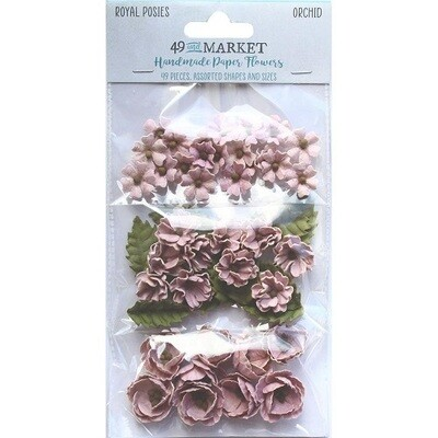 49 & Market - Royal Posies Paper Flowers - Orchid