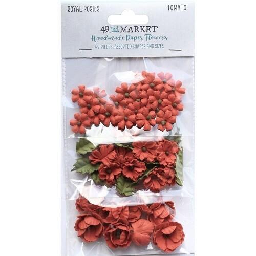 49 & Market - Royal Posies Paper Flowers - Tomato