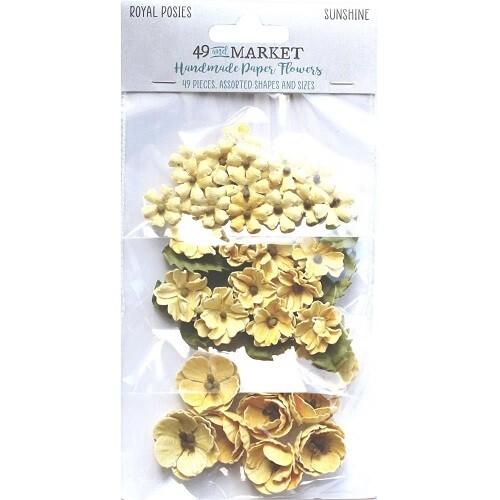 49 & Market - Royal Posies Paper Flowers - Sunshine