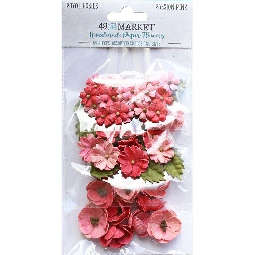 49 & Market - Royal Posies Paper Flowers - Passion Pink