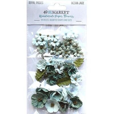 49 & Market - Royal Posies Paper Flowers - Ocean Jade
