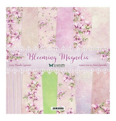 ScrapandMe - Blooming Magnolia  - 12 x 12 Paper Collection