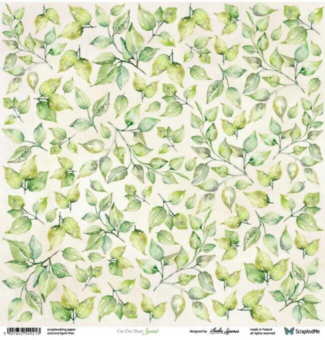 ScrapandMe - Leaves 1 - Fussy Cutting 12 x 12 Sheet