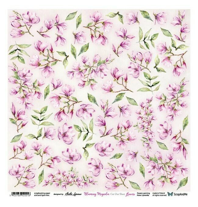 ScrapandMe - Blooming Magnolia  - Fussy Cutting Sheet