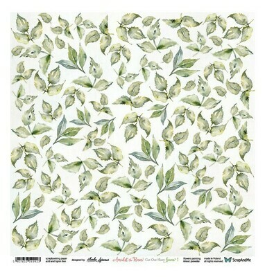 ScrapandMe - Amidst The Roses Leaves - Fussy Cutting 12 x 12 Sheet