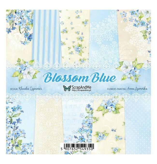 ScrapAndMe - Blossom Blue Collection - 6 x 6 Scrap Pads