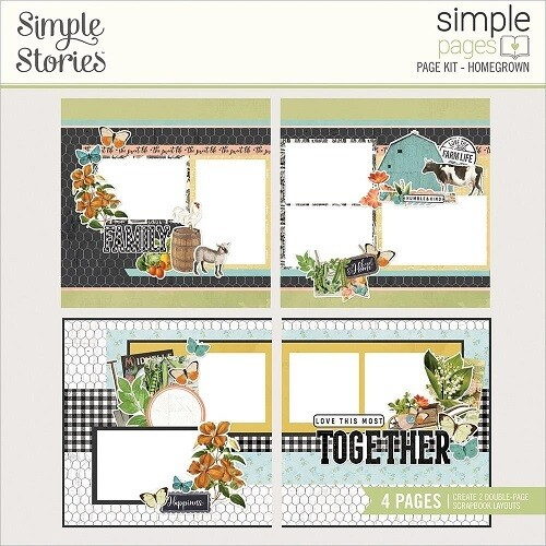 Simple Stories Page Kits - Homegrown - 4 Layouts