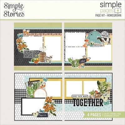 Simple Stories Page Kits - Vintage Homegrown Garden Collection - Homegrown - 4 Layouts