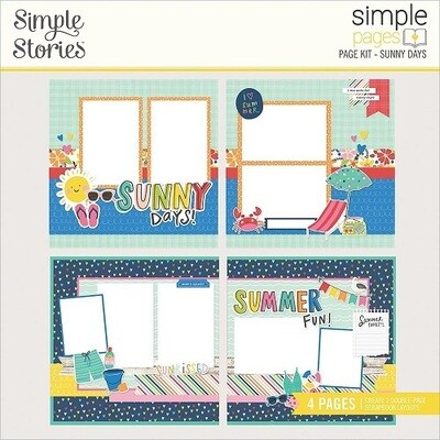 Simple Stories Page Kits - Sunkissed Collection - Sunny Days - 4 Layouts