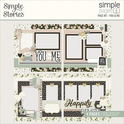 Simple Stories Page Kits - You & Me - 4 Layouts