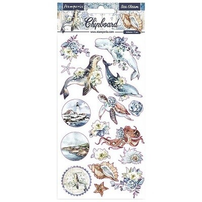 Stamperia - Romantic Sea Dream Collection - Chipboard Sheet