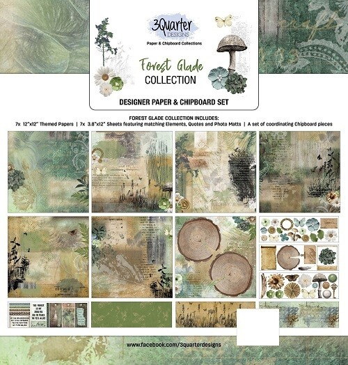 3 Quarter Designs - 12 x 12 Collections - Forest Glade