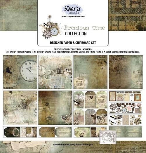 3 Quarter Designs - 12 x 12 Collections - Precious Time