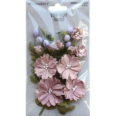 49 & Market Royal Spray Paper Flowers - Orchid