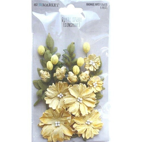 49 & Market Royal Spray Paper Flowers - Sunshine