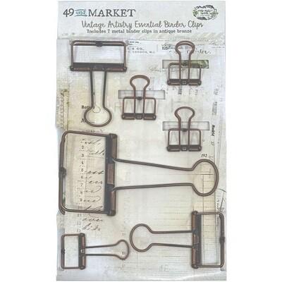 49 & Market - Vintage Artistry - Antique Bronze  Shaped Binder Clips
