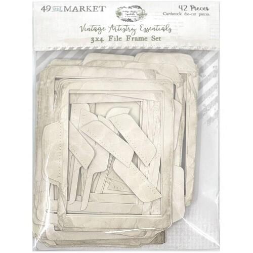"""49 & Market - Vintage Artistry - Essentials  - 3"""" x 4"""" File Frame Set - 42 Pcs - VAE33706"""