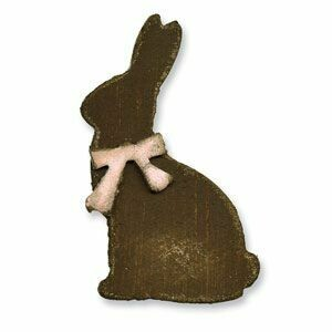 Sizzix - Tim Holtz - Alterations -Movers & Shapers - Mini Bunny & Bow - 657486