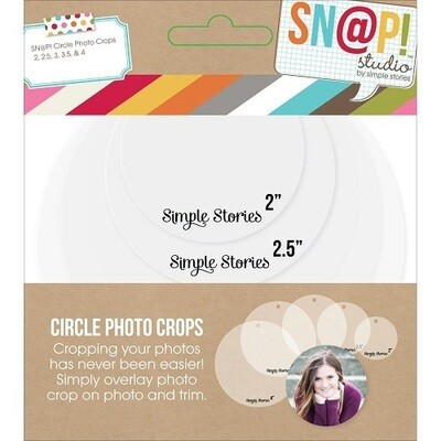 Simple Stories - Sn@p! Studio - Photo Crop Circle Templates